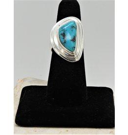 Shreve Saville SRS-R112C Thunder Mountain Turquoise Ring size 7