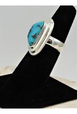 Shreve Saville Thunder Mountain Turquoise Ring size 7