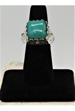 Shreve Saville SRS-R51C Square Green Turquoise Ring size 7