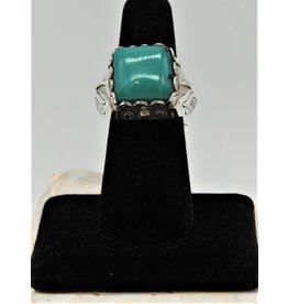 Shreve Saville SRS-R51C Square Green Turquoise Ring size 7