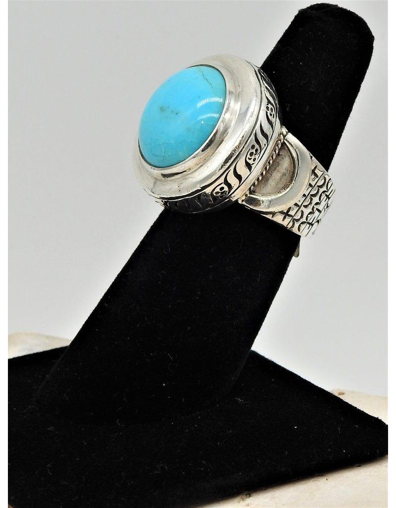 Shreve Saville SRS-R55C Sleeping Beauty Turquoise Ring  size 6.5