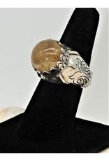 Shreve Saville SRS-R5C Rutilated Quartz Ring size 8