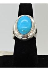 Shreve Saville SRS-R28C Nakozari Turquoise Oval Ring size 8
