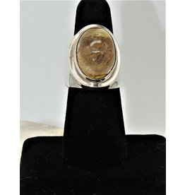 Shreve Saville SRS-R10C Oval Rutilated Quartz Ring size 7