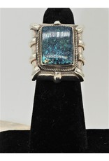 Shreve Saville SRS-R20C Spiderweb Turquoise Rec. Ring size 6