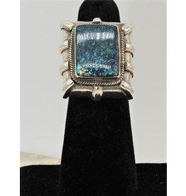 Shreve Saville SRS-R20C Spiderweb Turquoise Rec. Ring size 6