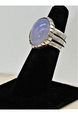Shreve Saville SRS-R27C Blue Chalcedony Ring size 5.5