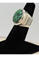 Shreve Saville SRS-R2C Turquoise Oval Ring size 7