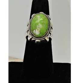 Shreve Saville SRS-R8C Lt. Green Varacite Oval Ring size 7.5