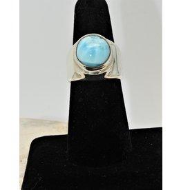 Shreve Saville SRS-R7C Larimar Round Ring size 7