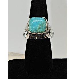 Shreve Saville SRS-R40C Square Turquoise Ring size 7.5
