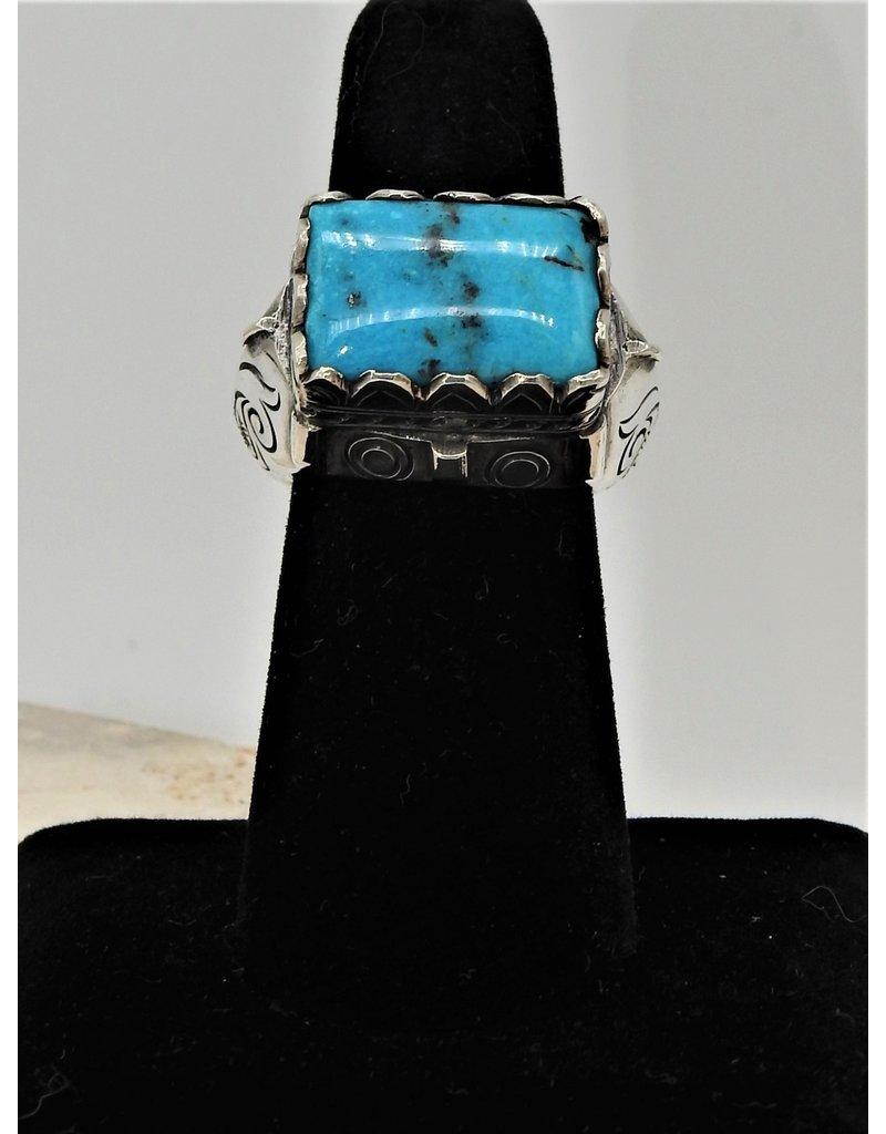 Shreve Saville SRS-R9C Nakozari Turquoise Rect. Ring size 7