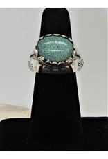Shreve Saville SRS-R35C Blue Spiderweb Turquoise Ring sz 6.5