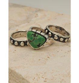 Shreve Saville Grasshopper Turquoise Stacker Ring sz 6