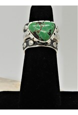 Shreve Saville Grasshopper Turquoise Stacker Ring sz 6