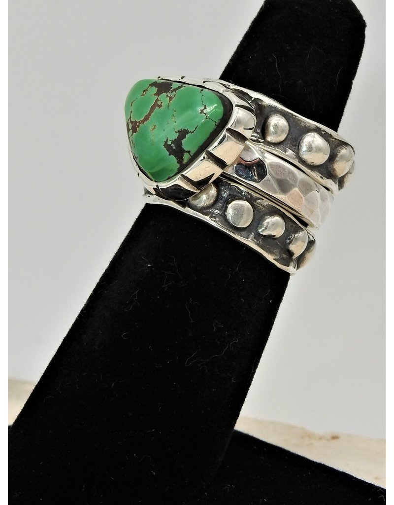 Shreve Saville SRS-R149C Grasshopper Turq Stacker Ring size 6