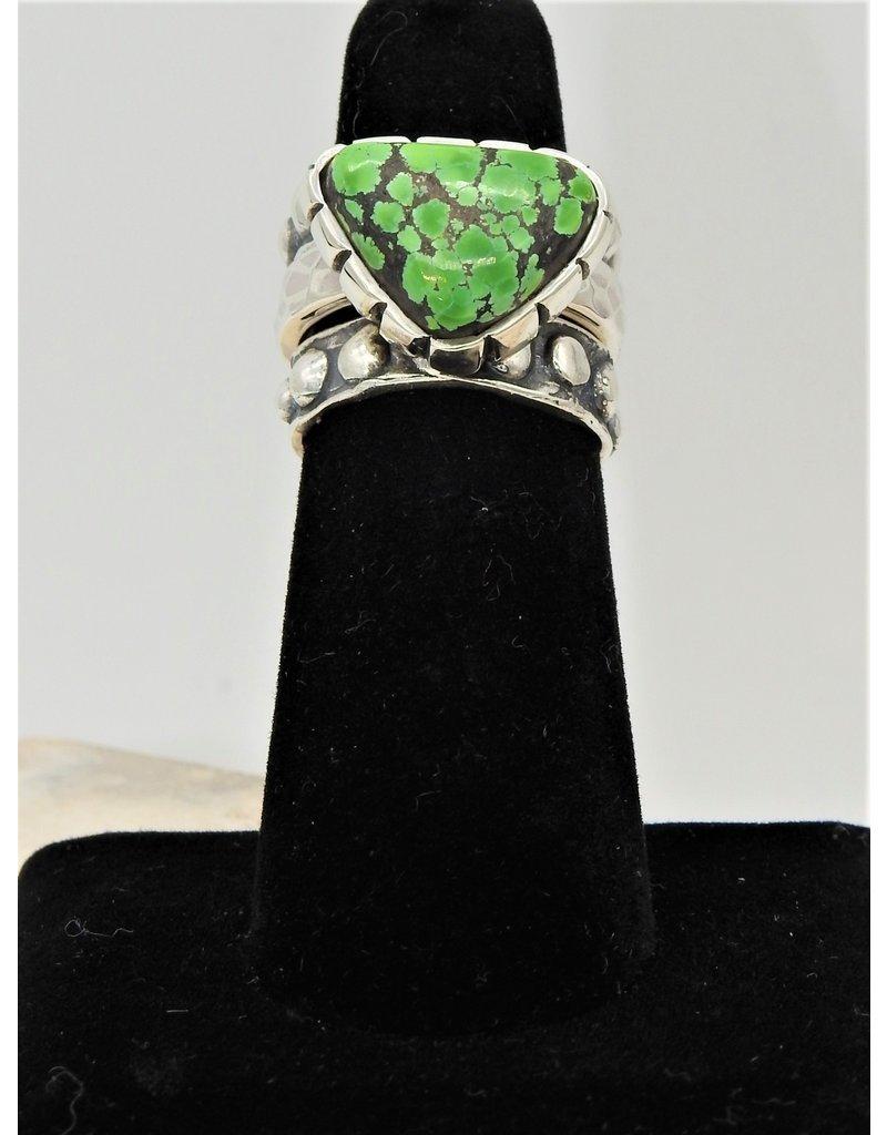 Shreve Saville Grasshopper Turquoise Stacker Ring size 6