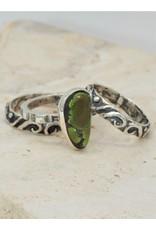 Shreve Saville Grasshopper Turq. Stacker Ring size 7