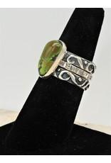 Shreve Saville SRS-R140C Grasshopper Turq. Stacker Ring size 7