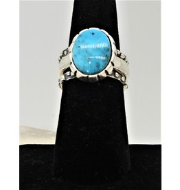 Shreve Saville Thunder Mountain Turquoise Stacker Ring sz 7.5