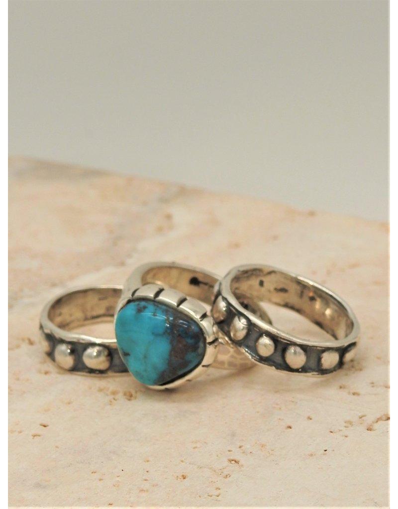 Shreve Saville Bisbee Turquoise Stacker Ring sz 6.25