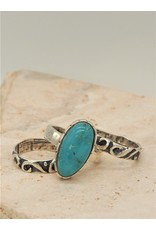Shreve Saville Fox Turquoise Stacker Ring s 6.25