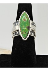Shreve Saville Grasshopper Turquoise Stacker Ring sz 8