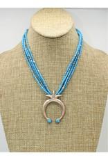 "Gildas Gewels N1032C 17"" Turq. Naja Strands  Turq. Beads"