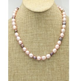 "Bliss Rox BR-N100C 19"" Pink/Bronze Fresh Water Pearls"
