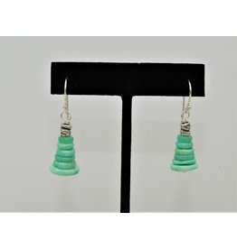 Pam Springall Stacked Chrysoprase Earrings