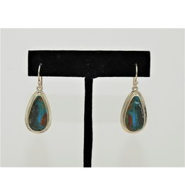 Pam Springall Peruvian Opal On Wire Earrings