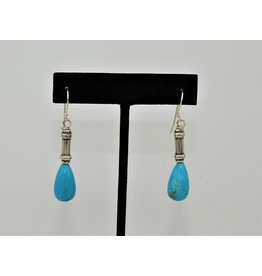 Pam Springall PS-E254C Nakozari Turq w/Silver Earrings