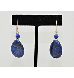 Pam Springall PS-E98C Fat Lapis Drops on wire