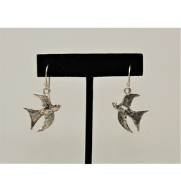 Pam Springall PS-E99C Silver Birds on Wire
