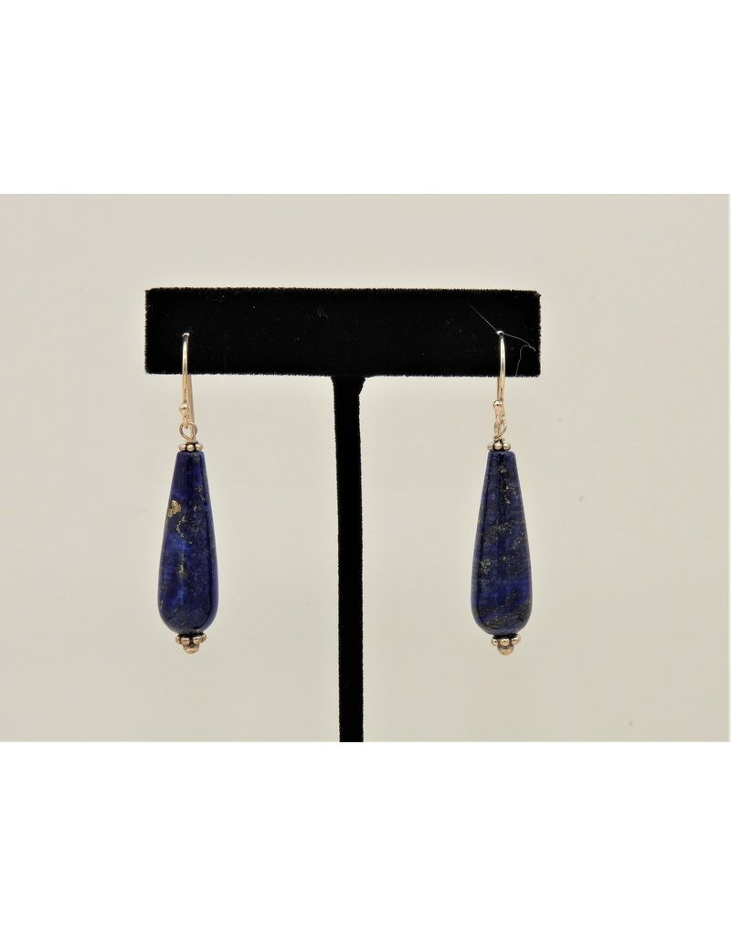 Pam Springall Long Lapis Drops on wire