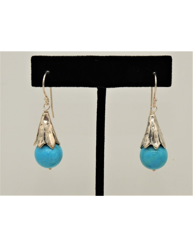 Pam Springall Nakozari Turquoise w/ SS Fat Cones on wire