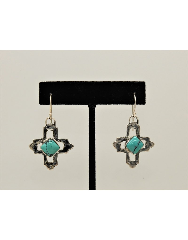 Pam Springall Sterling Silver Crosses with Turquoise