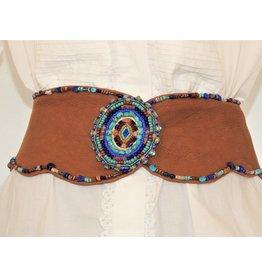 Gossamer Wings Vintage Gossamer Wings Beaded Leather Belt