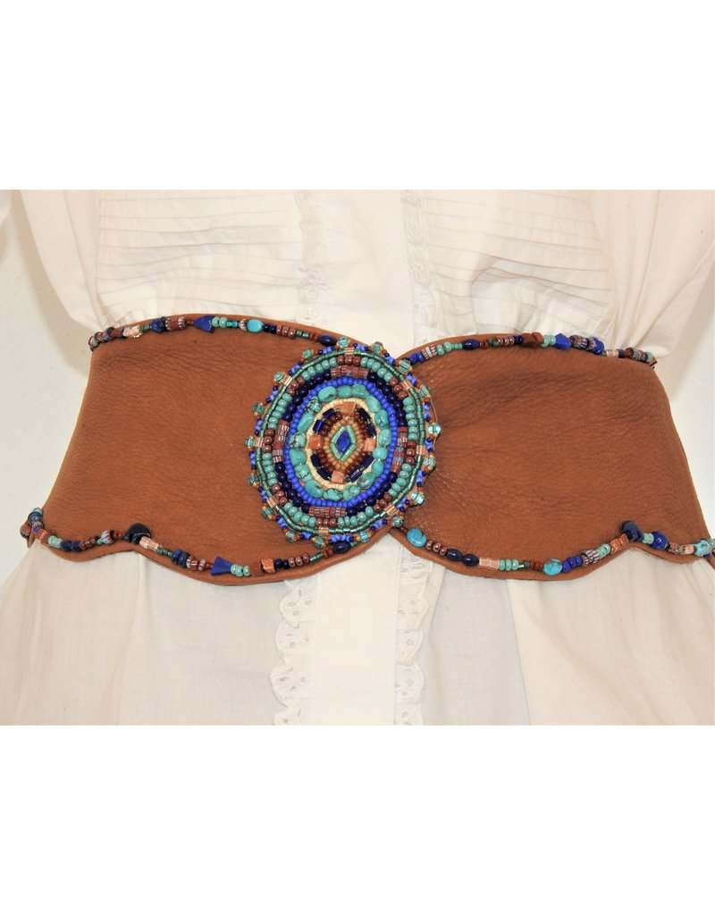 Gossamer Wings Vintage Gossamer Wings Beaded Leather Belt