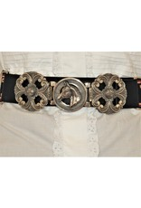 Mariano Draghi MD-C Horse Buckle, Yunta/Black Leather Belt