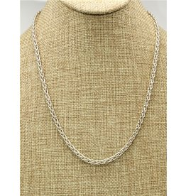 """Mariano Draghi MD 20"""" Sterling Spike Chain"""