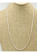 """Mariano Draghi 24"""" Sterling Cord Chain (med. gauge)"""
