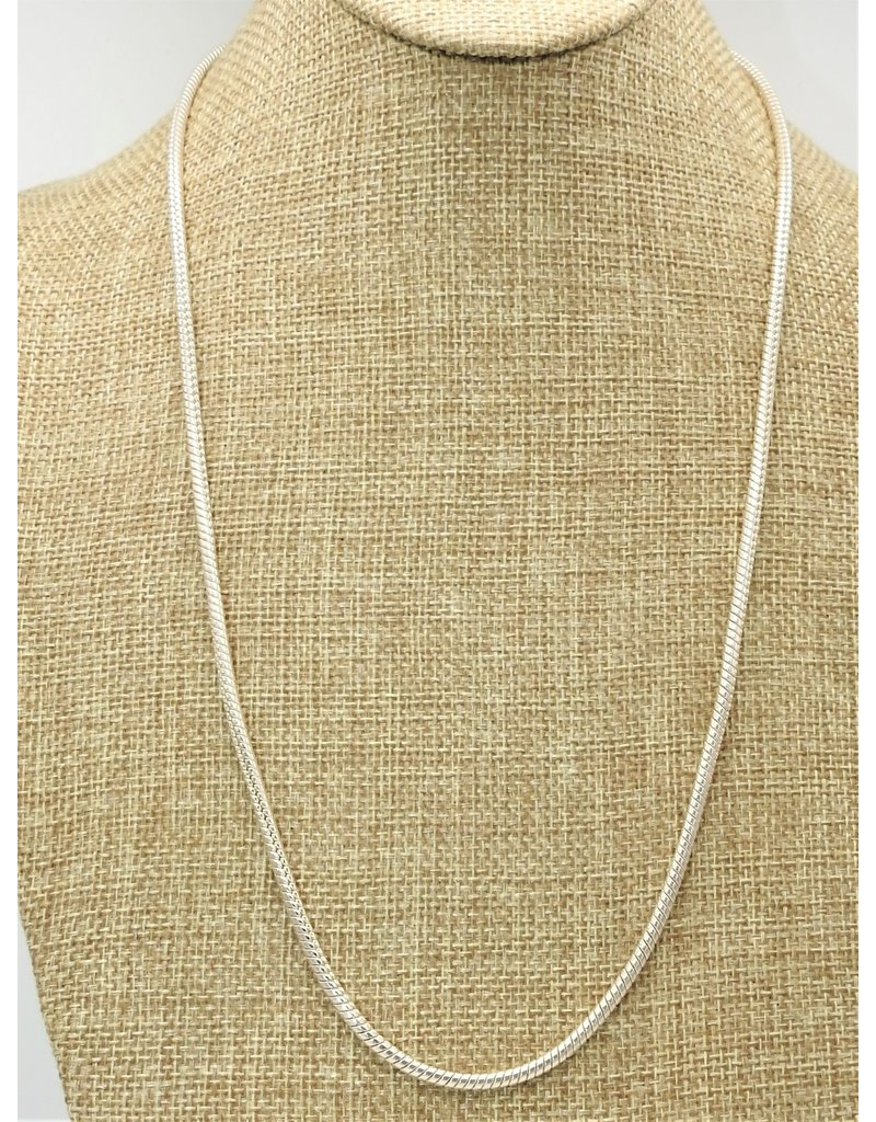 "Mariano Draghi 24"" Sterling Cord Chain (med. gauge)"