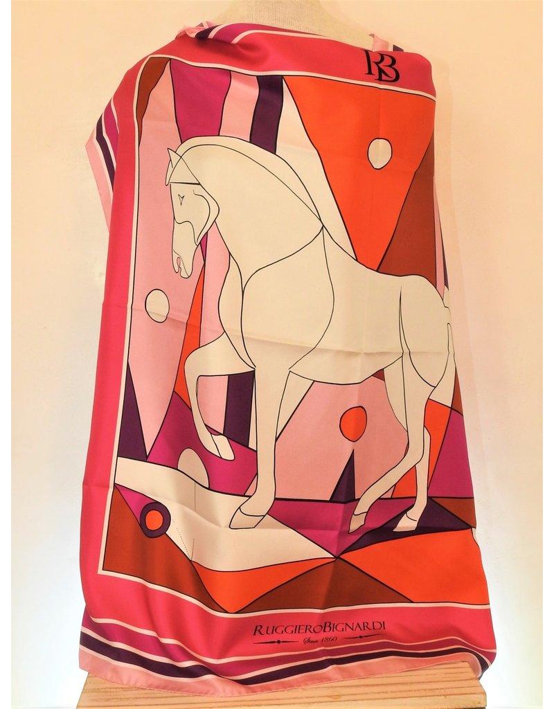 Ruggiero Bignardi NN4 Silk Scarf Horse Purple