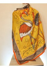 Ruggiero Bignardi AL3 Silk Scarf Stork Pale Yellow