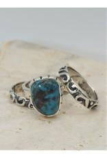 Shreve Saville Bisbee Turquoise Stacker Ring sz 7