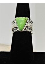 Shreve Saville Grasshopper Turquoise Stacker Ring sz 7.25