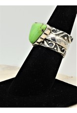 Shreve Saville Grasshopper Turquoise Stacker Ring sz 7.25
