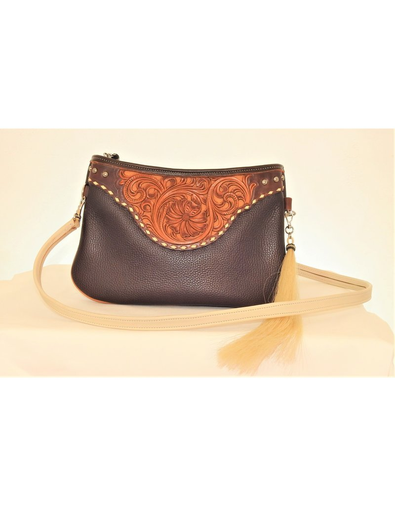 Boedeker Leather Leather Clutch, Shldr Strap