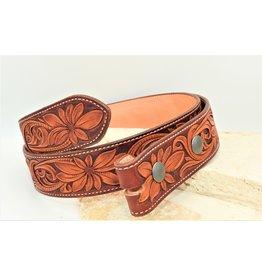 Boedeker Leather Full Floral Belt Light